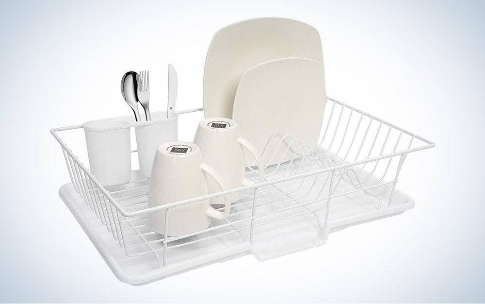 The Sweet Home Collection 3-Piece Dish Drainer Set is the best overall.
