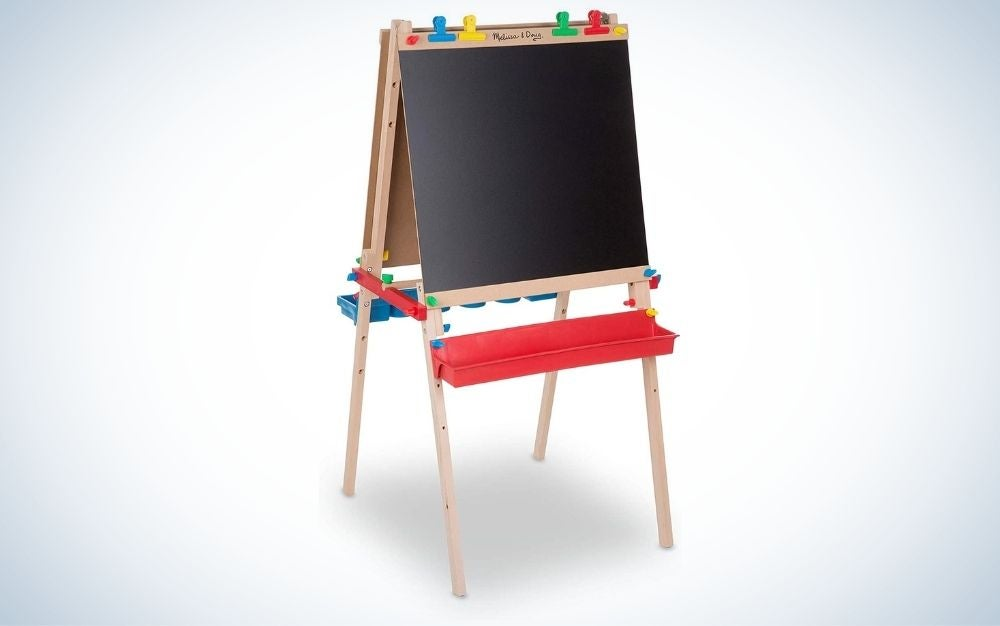 The Melissa & Doug Deluxe Easel is the best easel for kids.