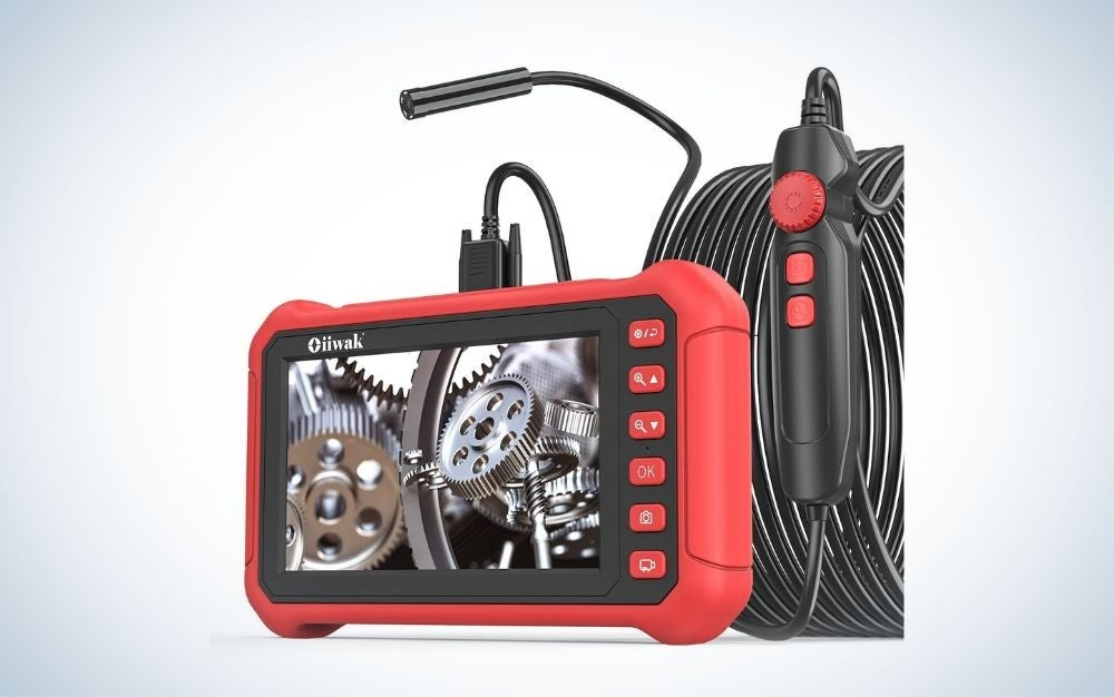 """The 7"""" Big Screen HD Industrial Endoscope has the best screen for a digital endoscope."""