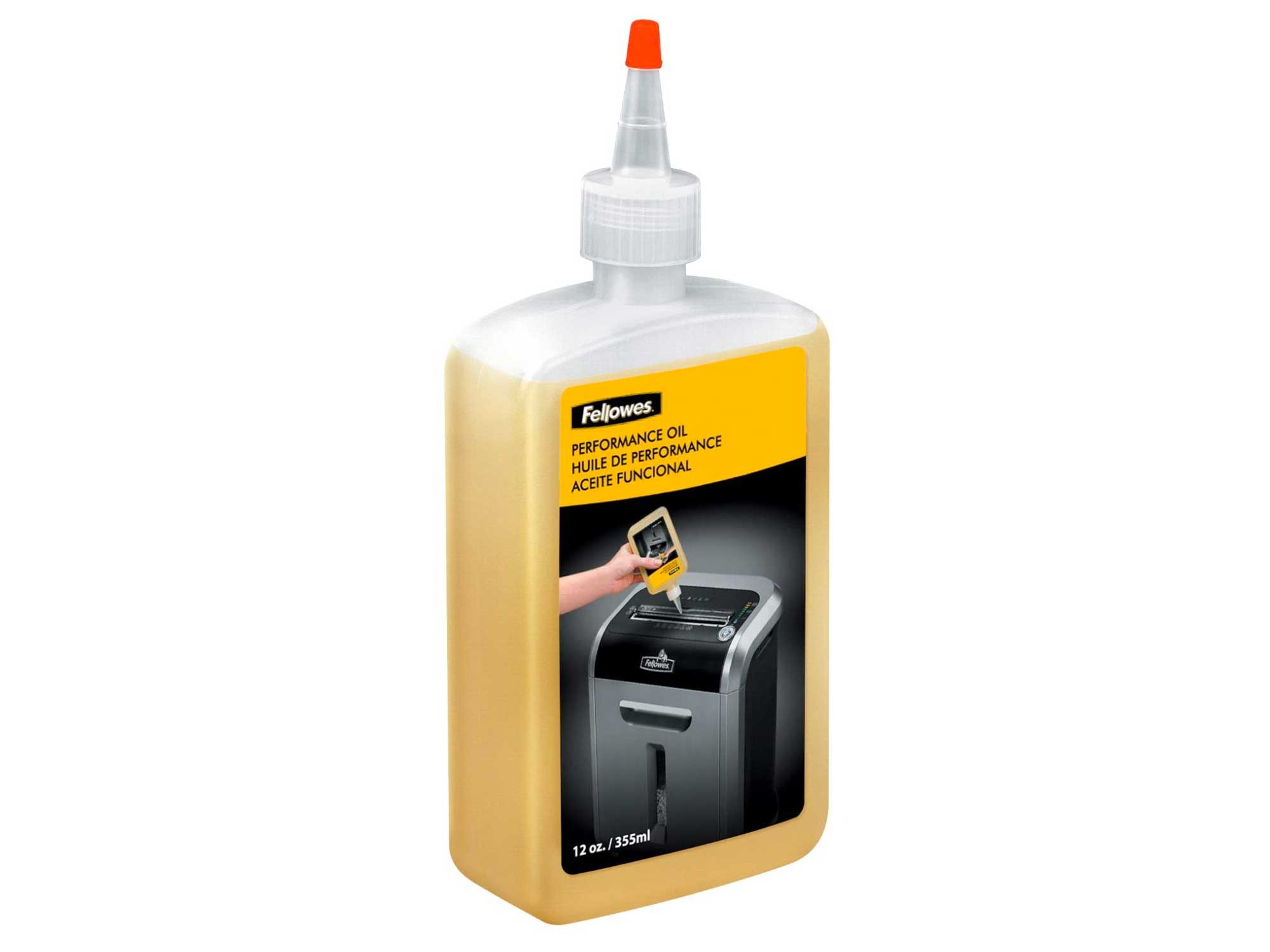 Fellowes Powershred Performance Oil, 12 oz. Bottle w/Extension Nozzle