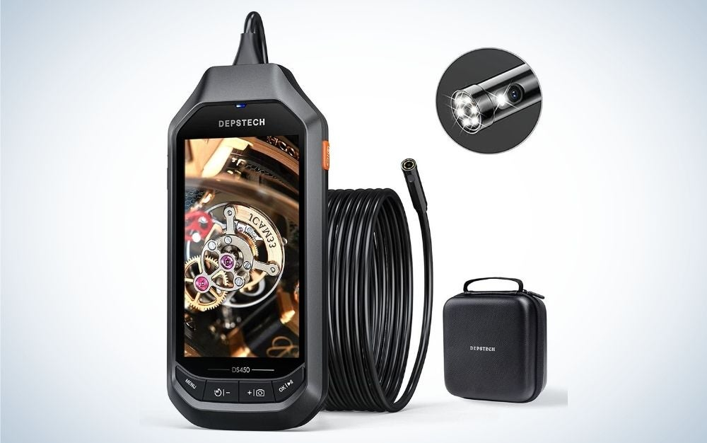 The DEPSTECH Dual-Lens Industrial Endoscope is the best digital endoscope with LEDs.