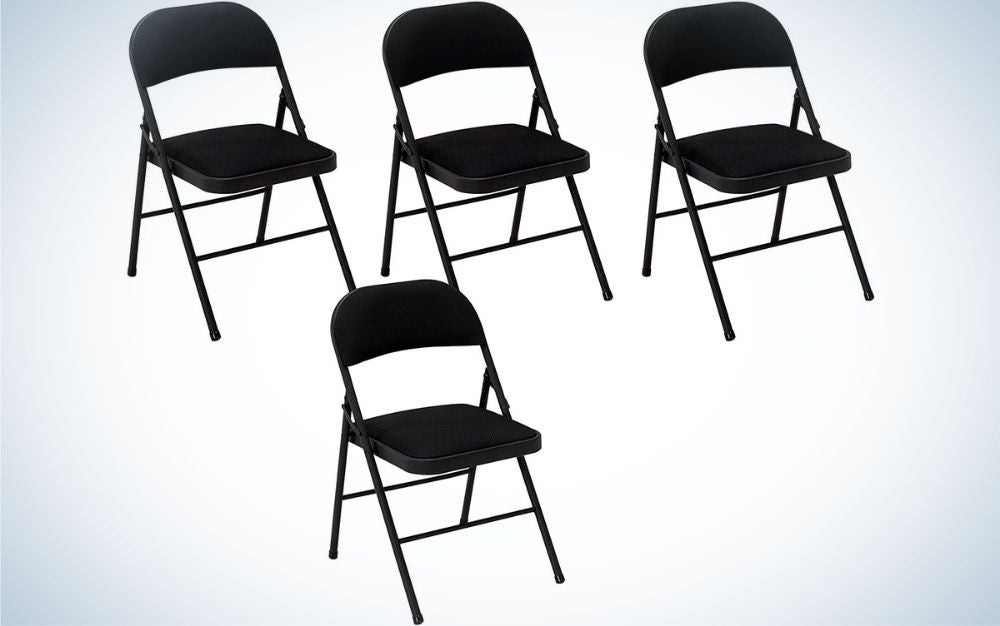 Cosco Products folding chairs are the best overall.