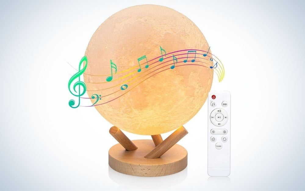 The Hotekme Moon Lamp with Built-In Speaker is best for white noise.