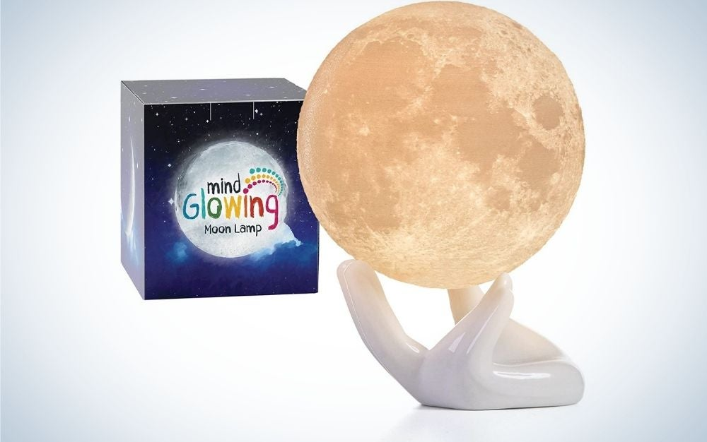 The Mind-Glowing Mini 3-D Moon Lamp is best for small spaces.