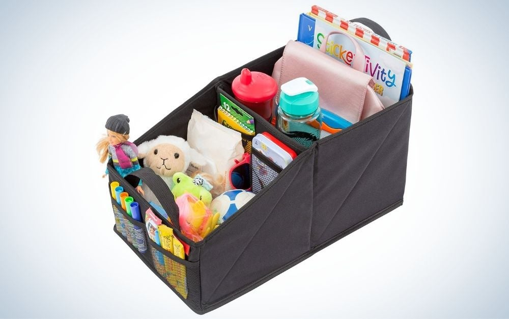 The Lusso Gear Car Seat Organizer for Front or Backseat is the best value.