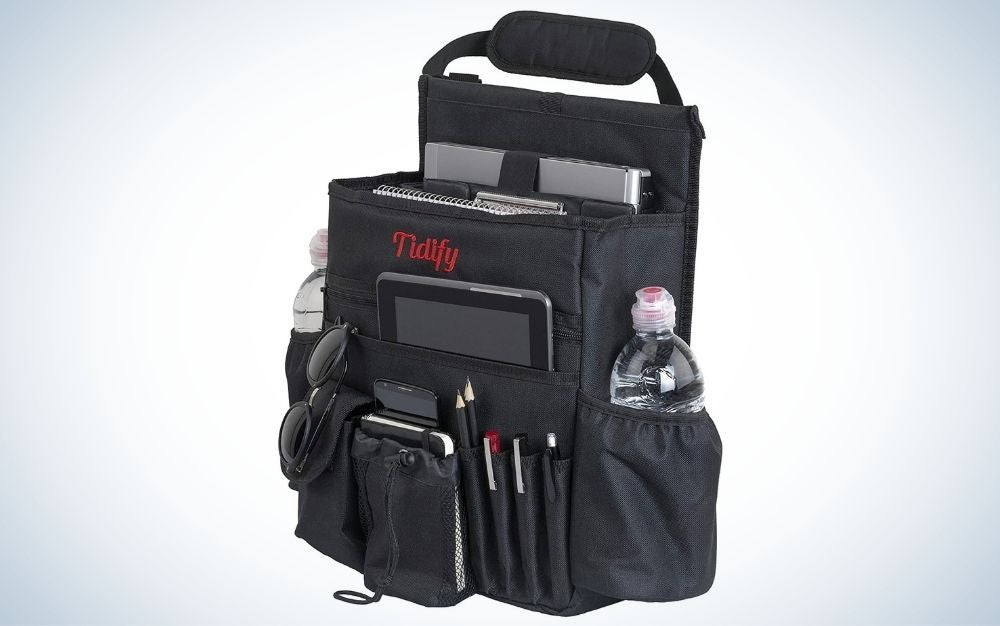 The Tidify Car Front Seat Organizer is the best for business.