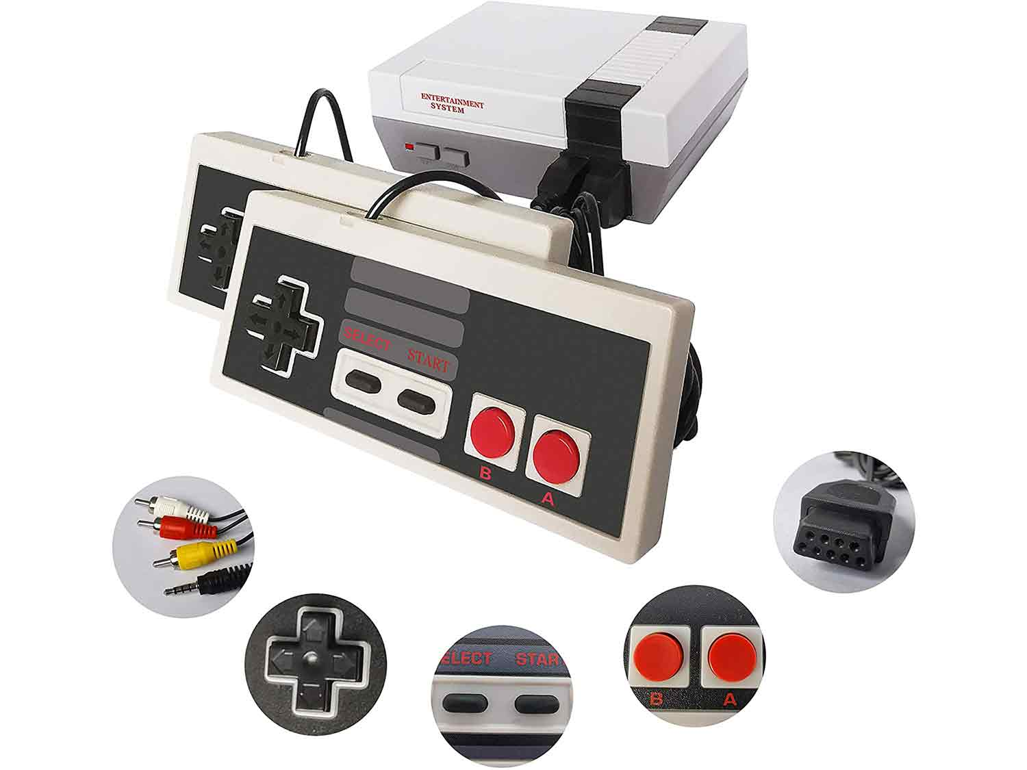 Classic Mini Retro Game Console with Built-in 620 Games and 2 Classic Controllers, AV Output Video Games for Kids, Children Gift, Birthday Gift Happy Childhood Memories
