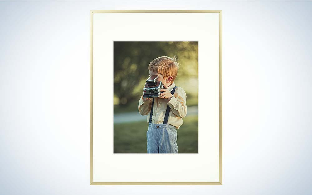 The Frametory, 12x16 inch Gold Metal Picture Frame is one of the best picture frames for art.
