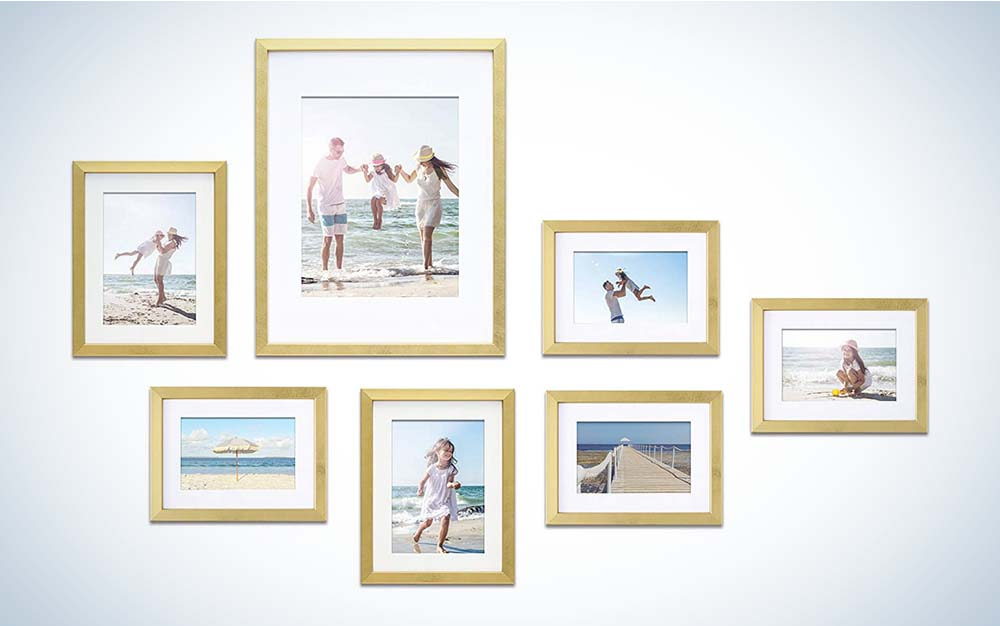 The Mimosa Moments Gallery Wall Frame Set is the one of the best picture frames for value.