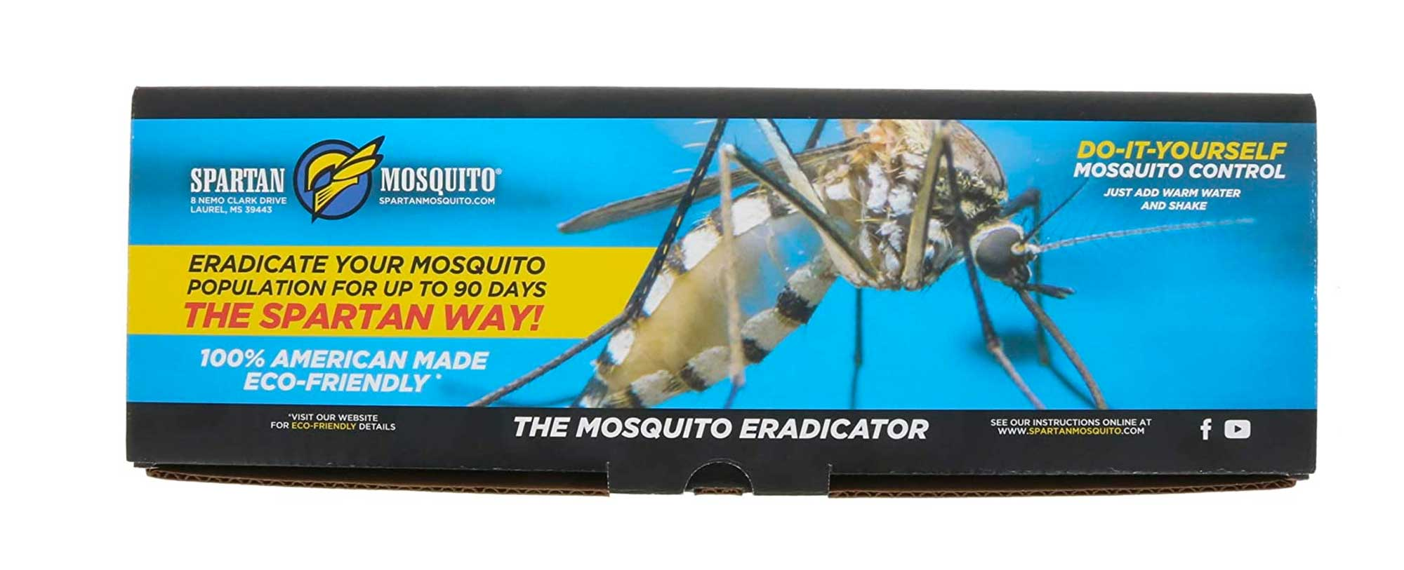 SPARTAN MOSQUITO ERADICATOR - Whole Yard Outdoor Mosquito Protection Solution - Mosquito Free Backyard Garden Patio (Refresh Pack - 2 Tubes)