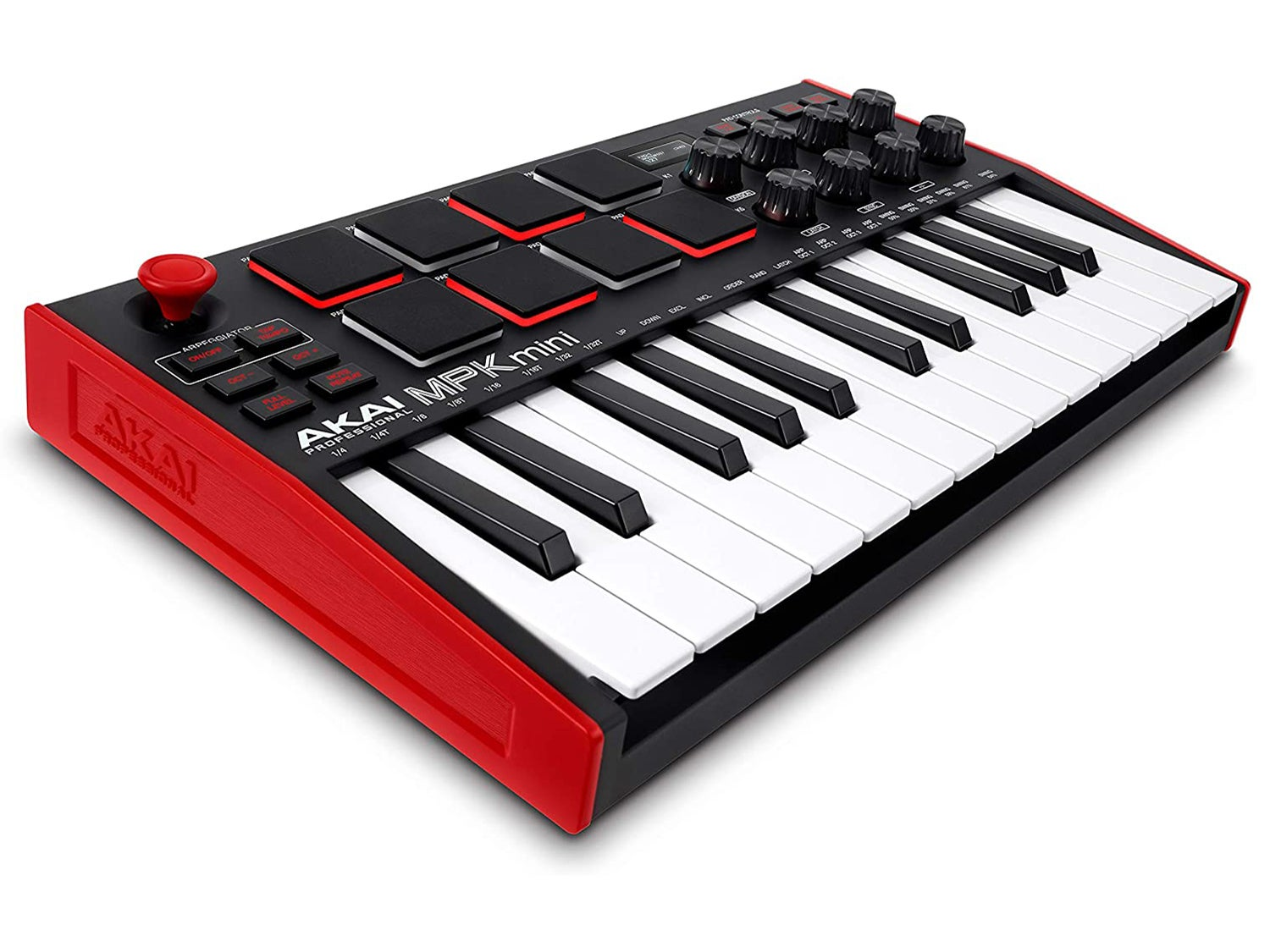 AKAI Professional MPK Mini MK3   25 Key USB MIDI Keyboard Controller With 8 Backlit Drum Pads, 8 Knobs and Music Production Software included