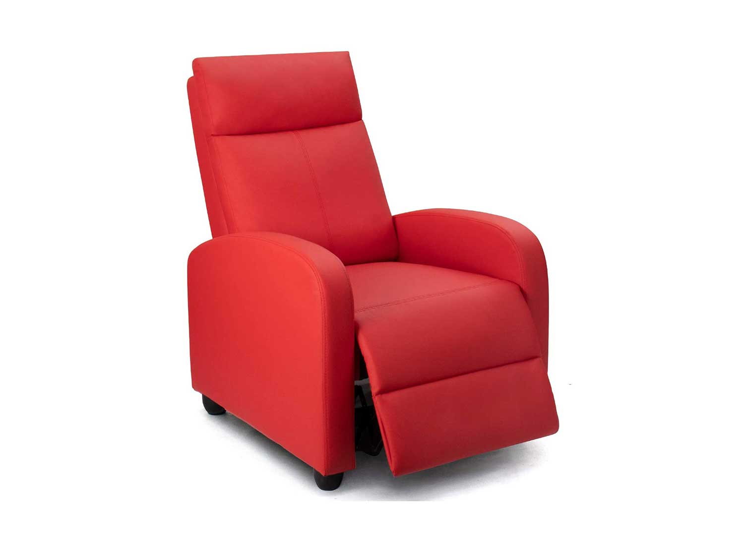 Homall Recliner Chair Padded Seat Massage Pu Leather for Living Room Single Sofa Recliner Modern Recliner Seat Club Chair Home Theater Seating (Red)