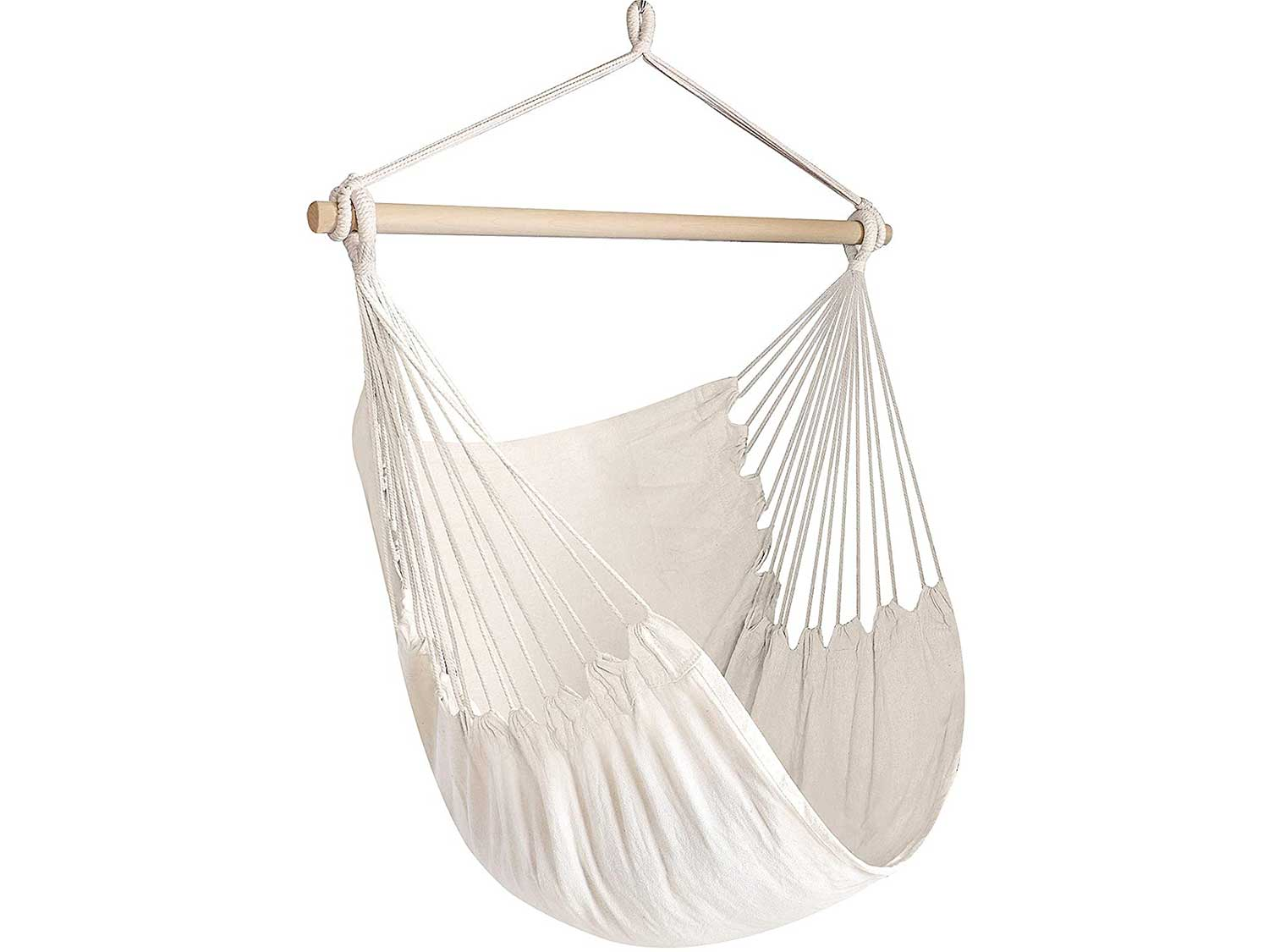 Chihee Hammock Chair Large Hammock Chair Relax Hanging Swing Chair Cotton Weave for Superior Comfort & Durability Perfect for Indoor/Outdoor Home Bedroom Patio Deck Yard Garden