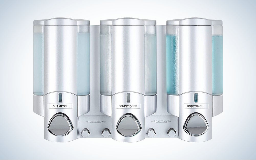 The Better Living Products Aviva 3 Chamber Wall Mount Soap and Shower Dispenser is the best overall.