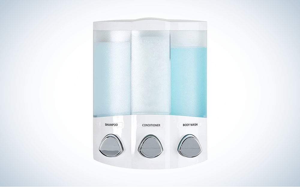 The Better Living Products Euro Series TRIO 3-Chamber Soap and Shower Dispenser is the best value.