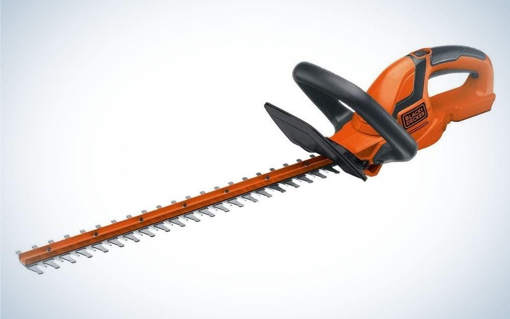 The Black+Decker 20V Max Cordless Hedge Trimmer is a best value buy.