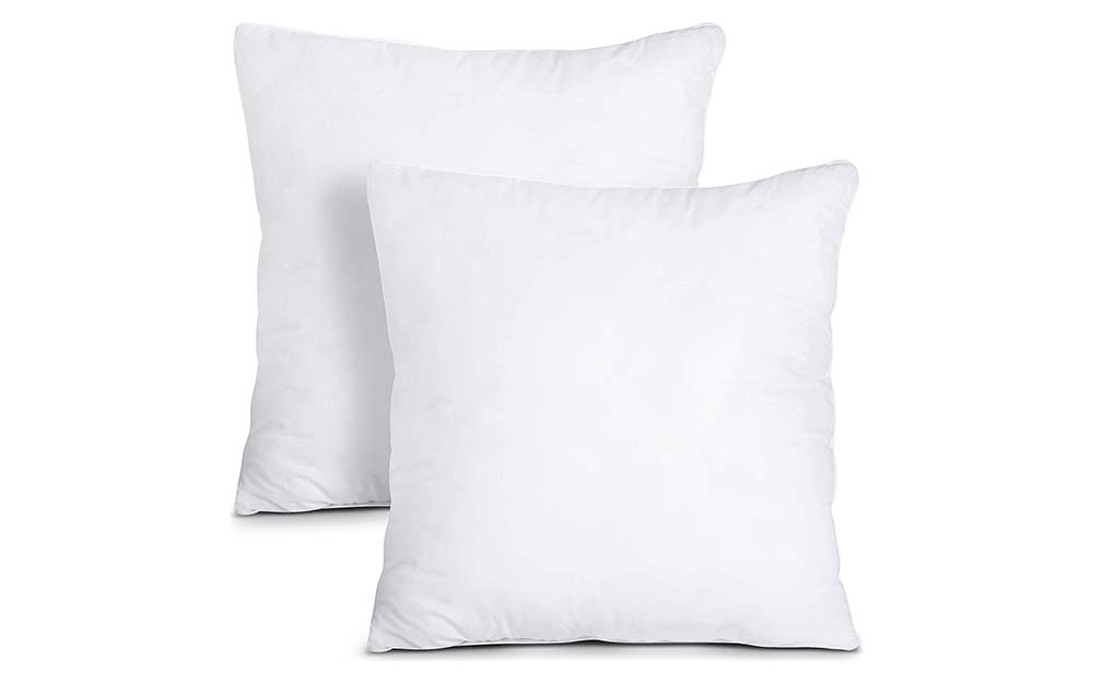 The Utopia Bedding Throw PIllow Inserts are the best value.
