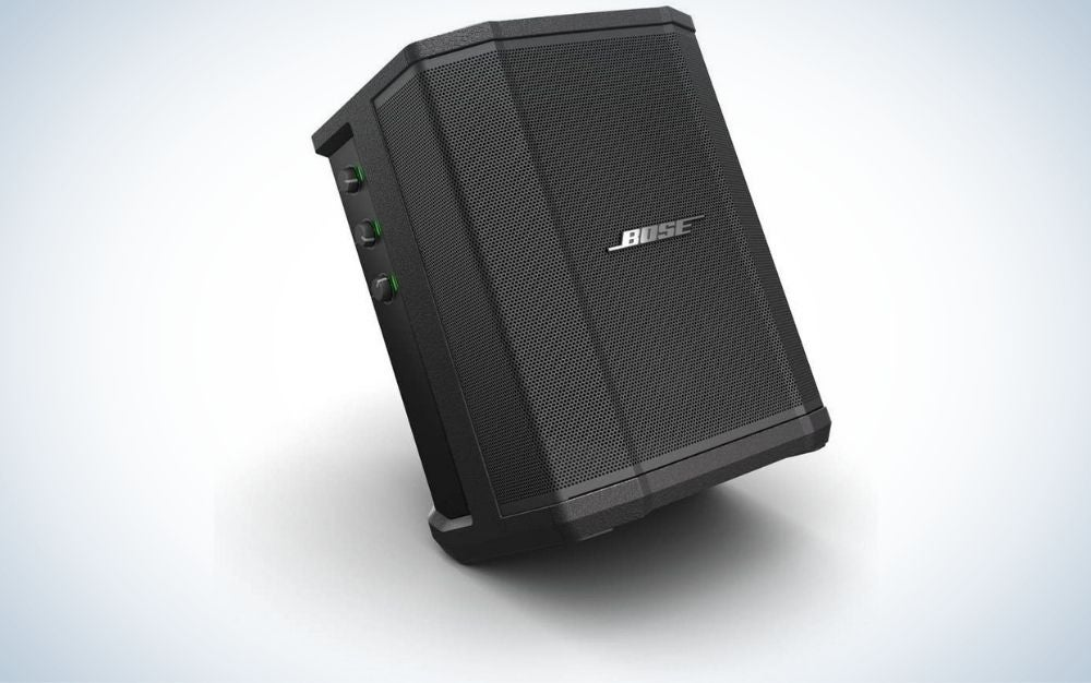 The Bose S1 Pro Portable Bluetooth Speaker System is the best PA system for outdoor events.