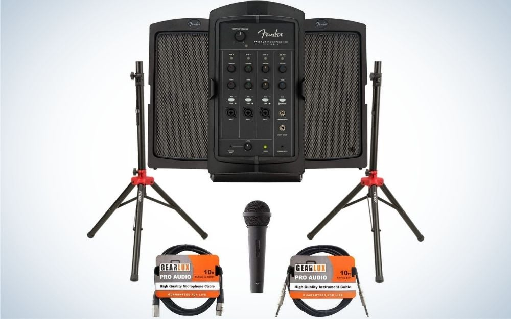 The Fender Passport Conference S2 Portable PA System is the best overall.