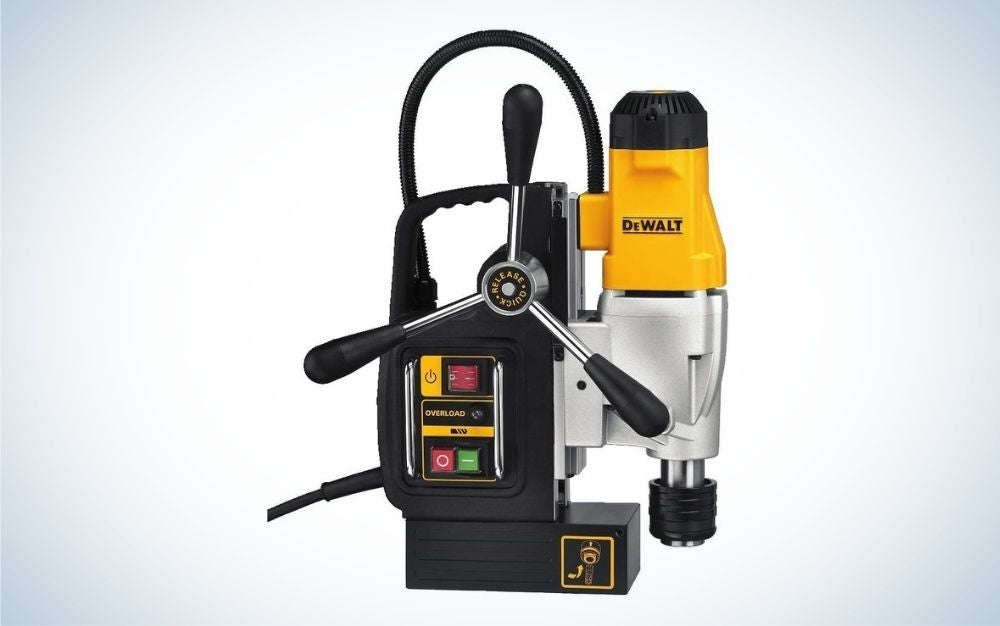 The DeWalt 2-Speed Magnetic Drill Press is the best for metal.