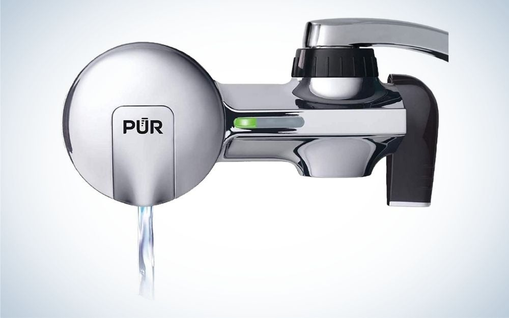 The PUR Faucet Water Filtration System is the best faucet-attached filter.