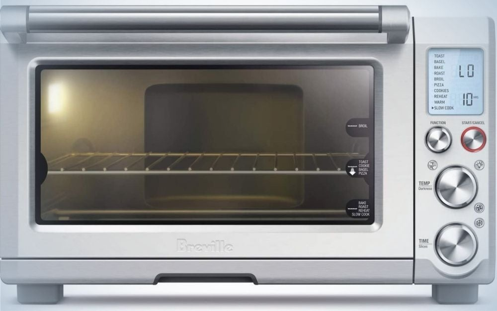The Breville Smart Oven Pro is one of the best convection toaster ovens because of its smart technology.