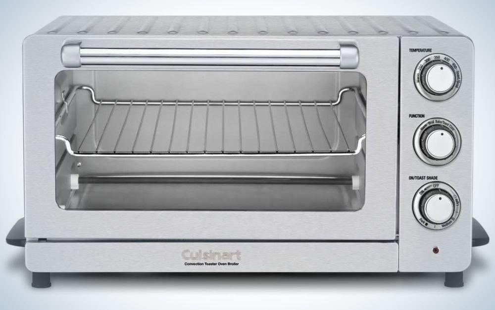 The Cuisinart TOB-60N1 is one of the best convection toaster ovens for its compact size.