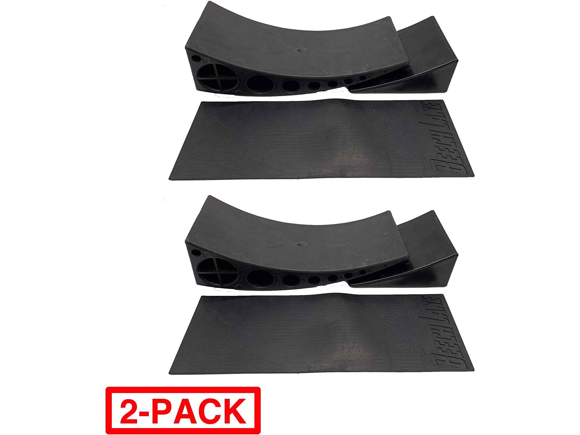 Beech Lane Camper Leveler 2 Pack - Precise Camper Leveling, Includes Two Curved Levelers, Two Chocks, and Two Rubber Grip Mats, Heavy Duty Leveler Works for Campers Up to 35,000 LBs