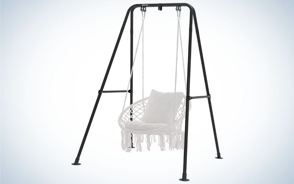 The G TALECO GEAR Hammock Chair Stand is the best for swinging.