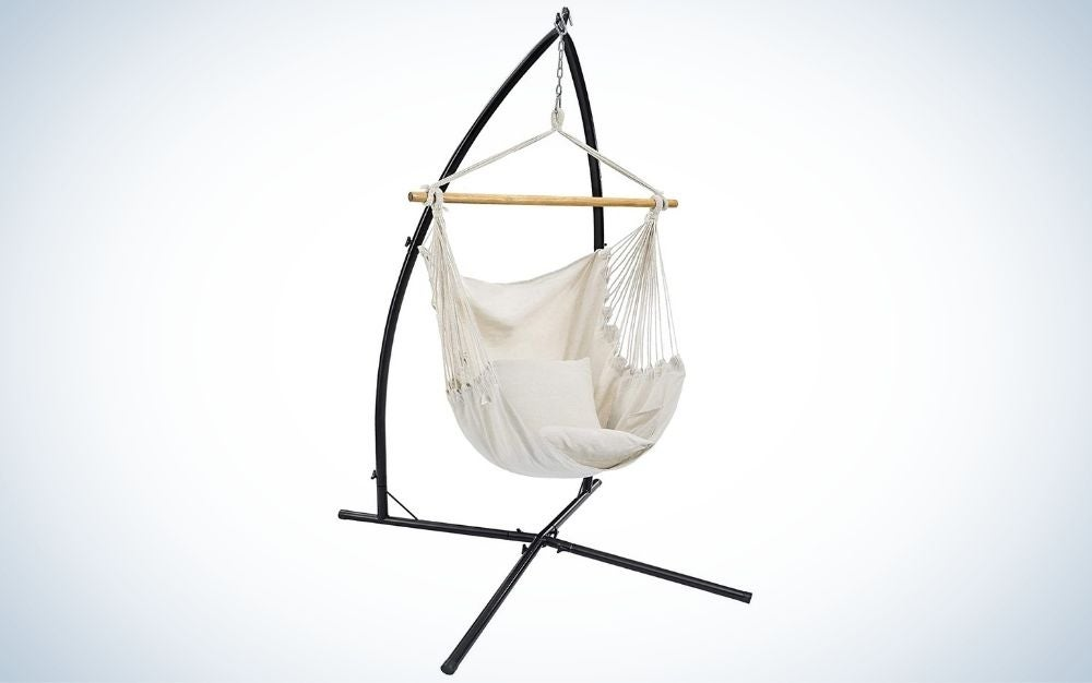 The SONGMICS Hammock Chair with Stand is the best value.