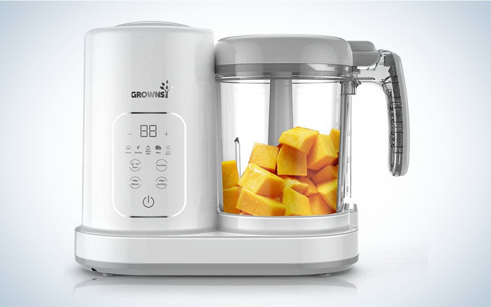 The Grownsy Baby Food Maker Puree Blender is the best for baby food.