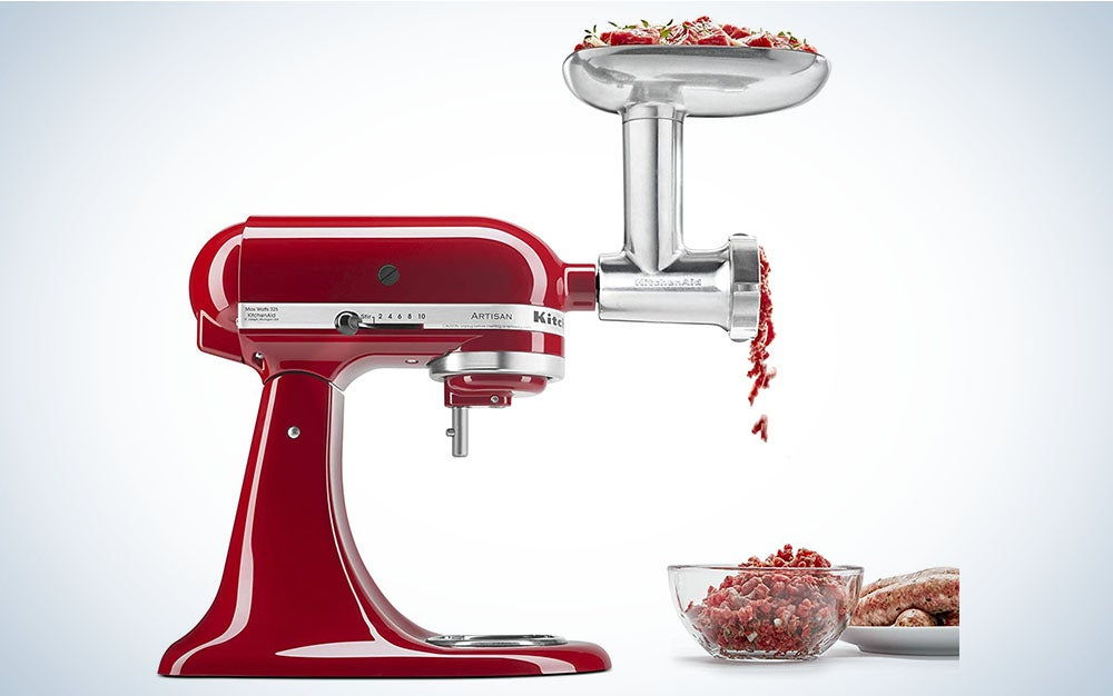 The KitchenAid Metal Food Grinder Attachment is the best food grinder for meat.