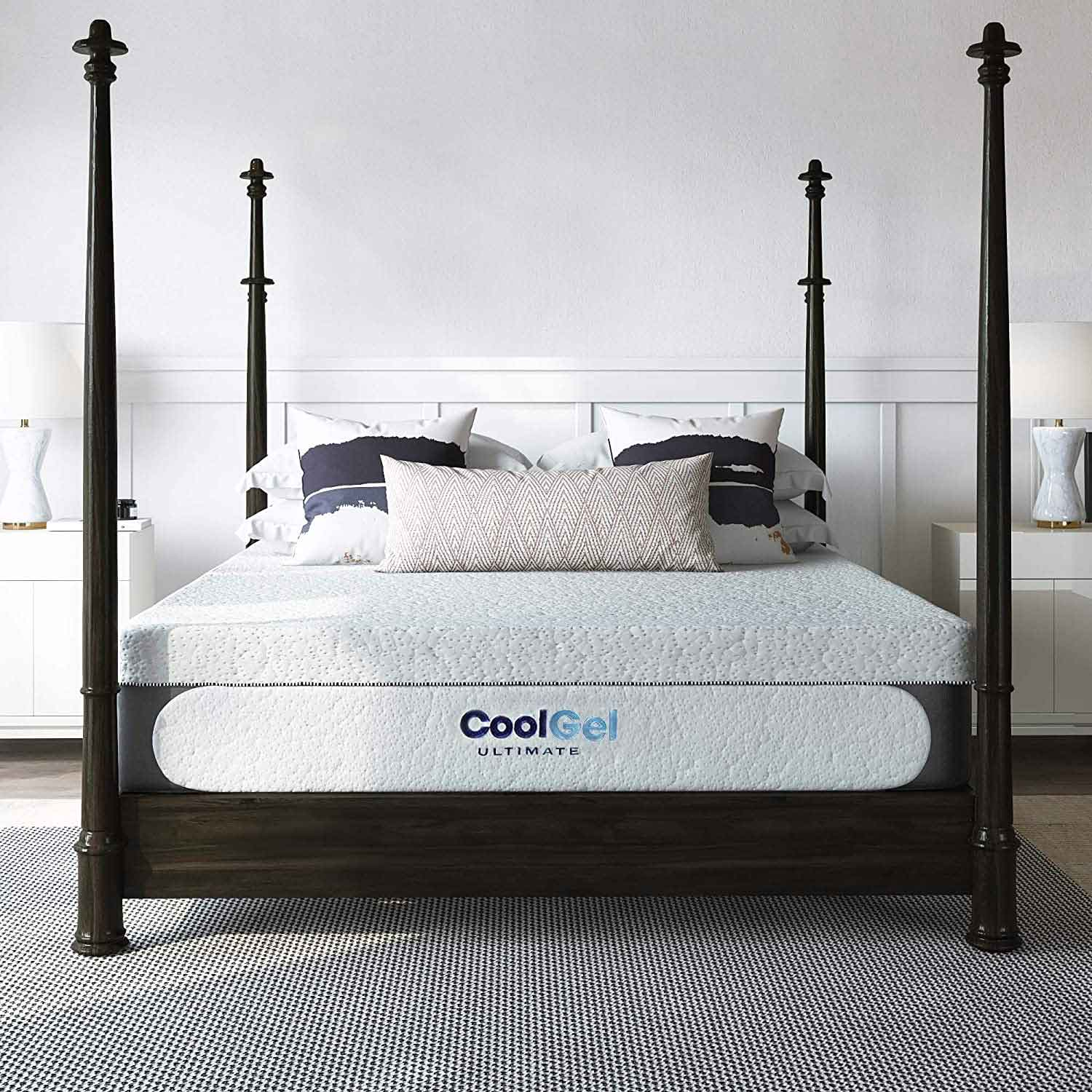 Classic Brands Cool Gel Chill Memory Foam 14-Inch Mattress with 2 BONUS Pillows | CertiPUR-US Certified | Bed-in-a-Box, King