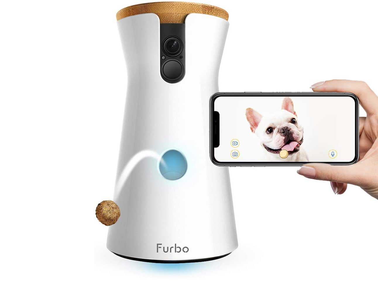 Furbo Dog Camera: Treat Tossing, Full HD Wifi Pet Camera and 2-Way Audio, Designed for Dogs, Compatible with Alexa (As Seen On Ellen)