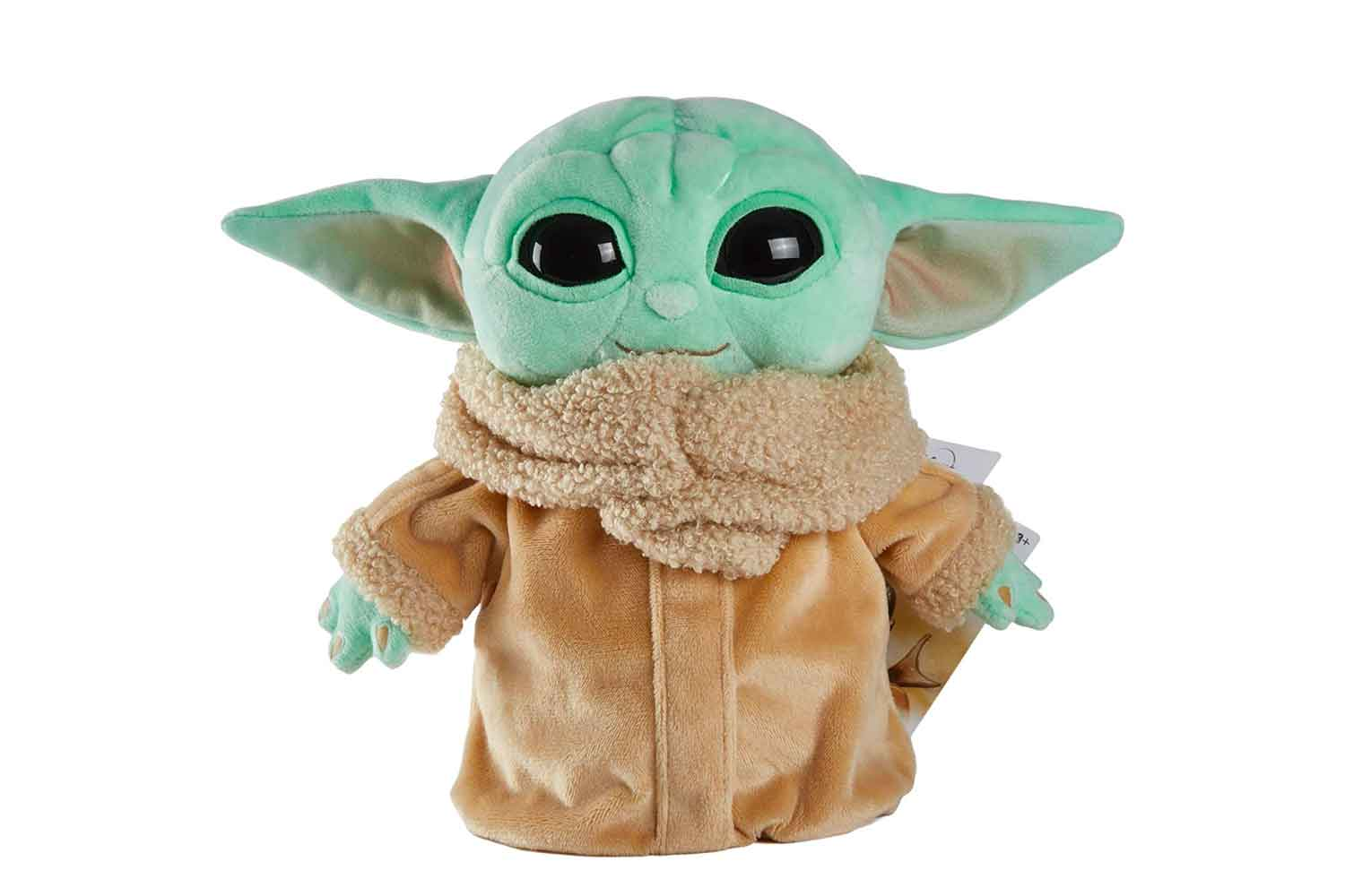 Mattel Star Wars The Child Plush Toy, 8-in Small Yoda Baby Figure from The Mandalorian, Collectible Stuffed Character for Movie Fans of All Ages, 3 and Older, Green