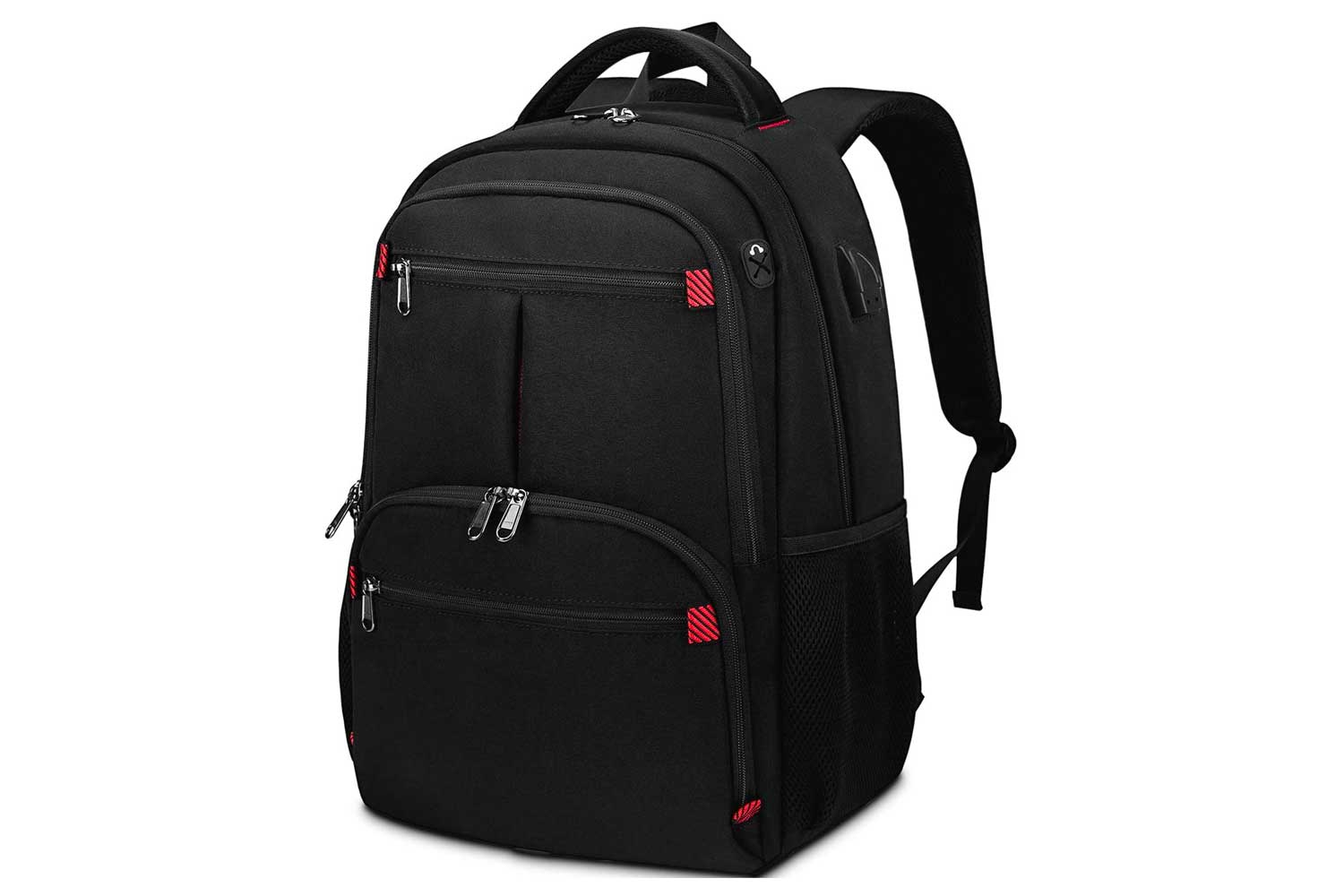 Travel Laptop Backpack Business Water Resistant Lightweight School Backpack with USB Charging Port 15.6 Inch Slim College Backpack for Men Women Computer Notebook Bookbag black
