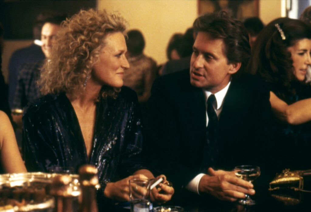 Scene from the movie Fatal Attraction