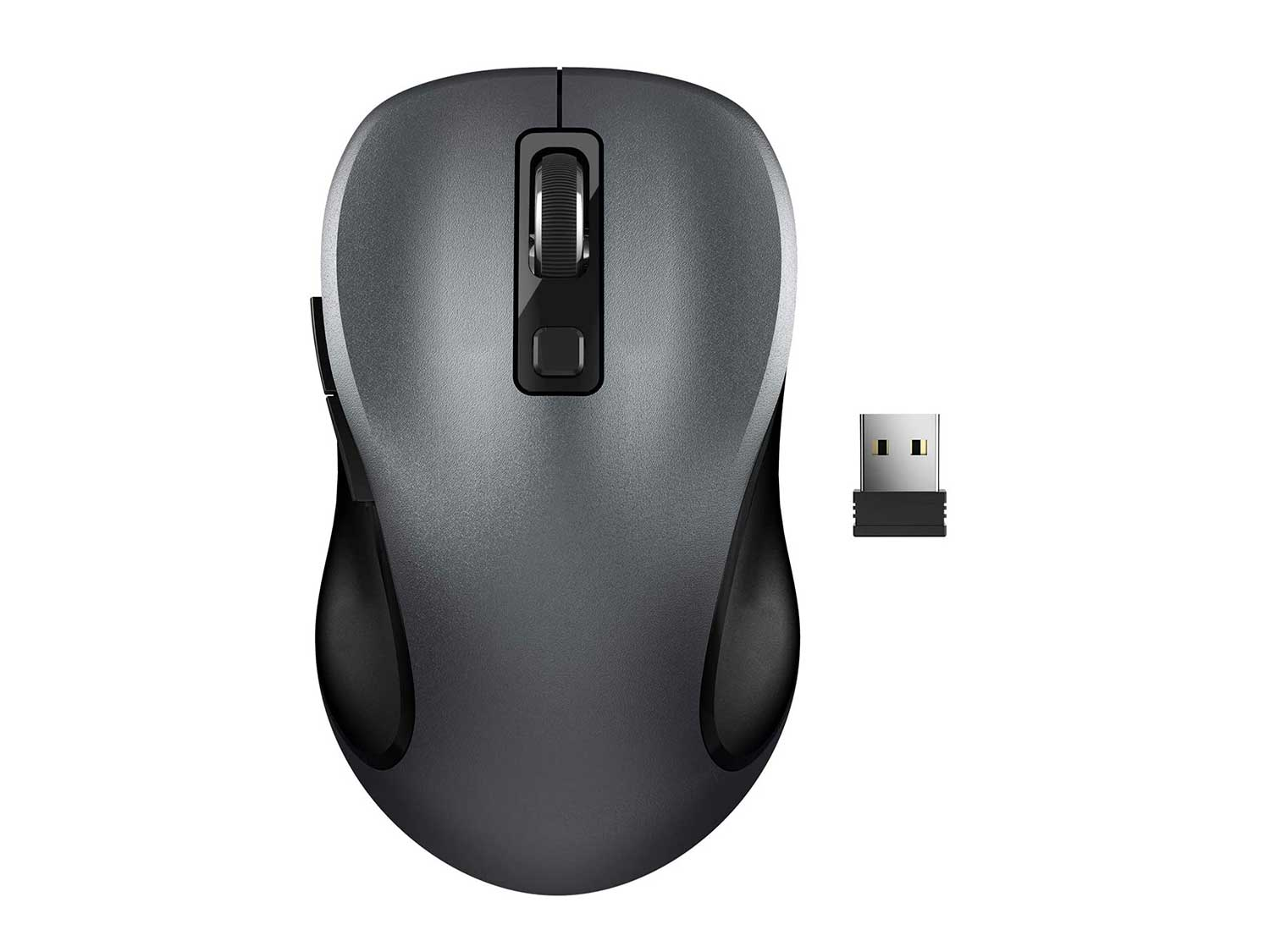 Wireless Mouse, RATEL 2.4G Wireless Ergonomic Mouse Computer Mouse Laptop Mouse USB Mouse 6 Buttons with Nano Receiver 3 Adjustable DPI Levels Cordless Wireless Mice for