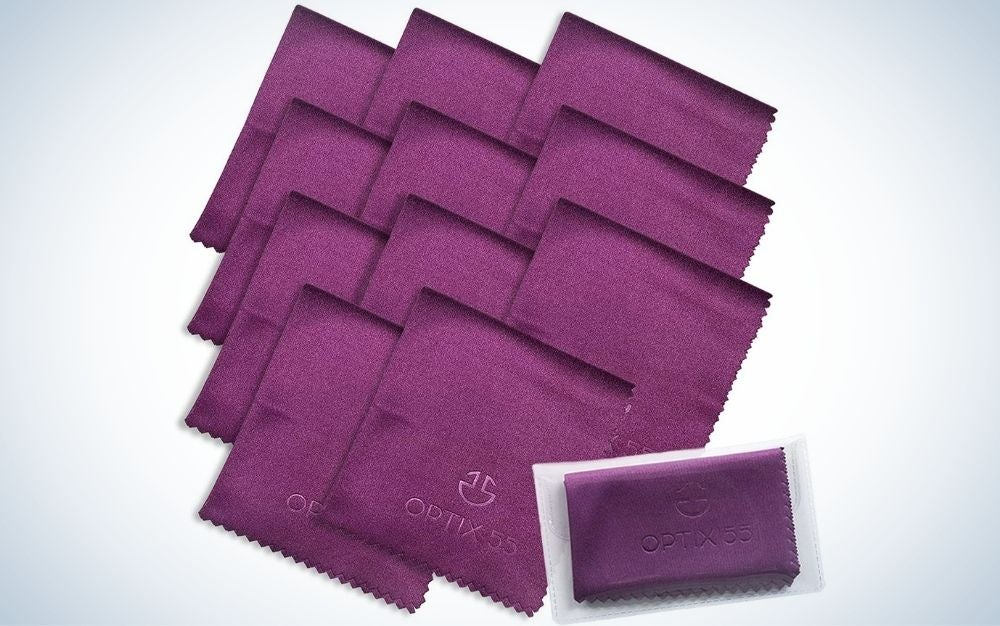 Optix 55 Microfiber Cleaning Cloths are the best value for eyeglass cleaners