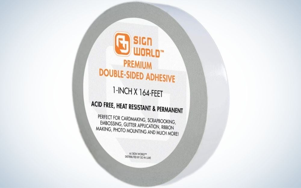 AJ Sign World Ultra-Thin Permanent Double-Sided Tape is best for crafting.