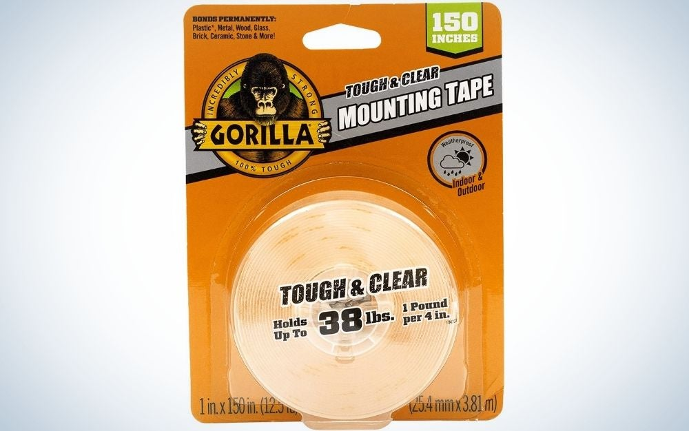 Gorilla Tough & Clear Double Sided Mounting Tape is best value.