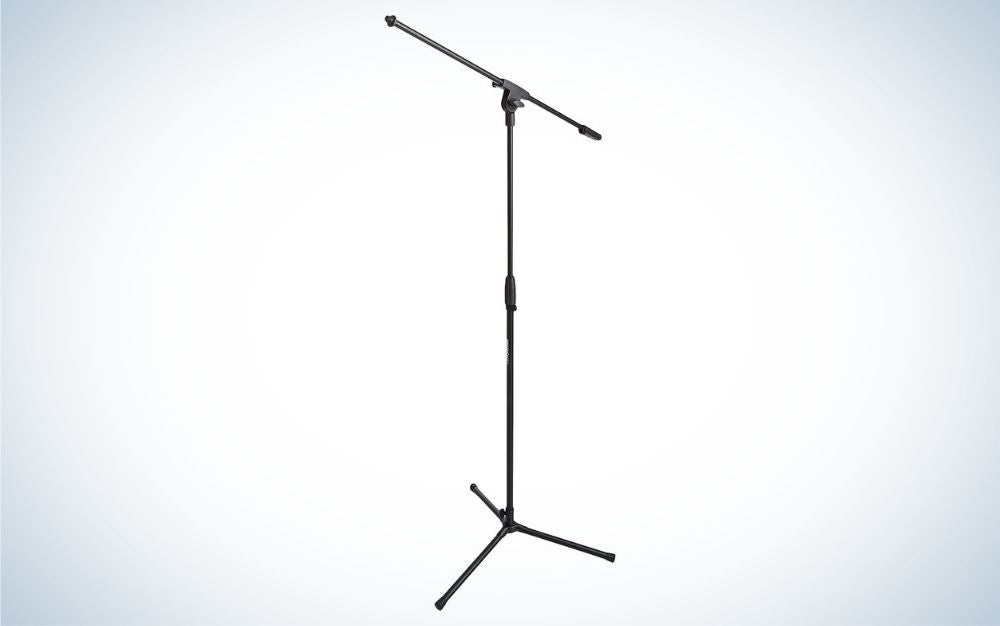 The Amazon Basics Adjustable Boom Height Microphone Stand is the best value microphone boom arm stand.