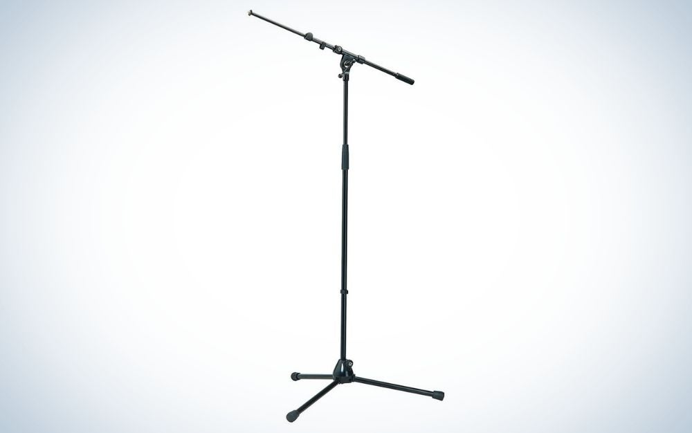 The K&M 21090 Mic Stand with Telescoping Boom Arm is the best overall.