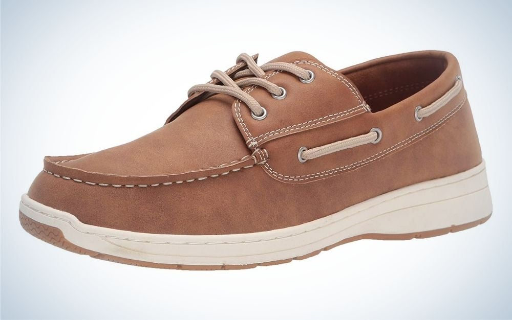 The Amazon Essentials Men's Lace Up Boat Shoe Sneaker is the best value.