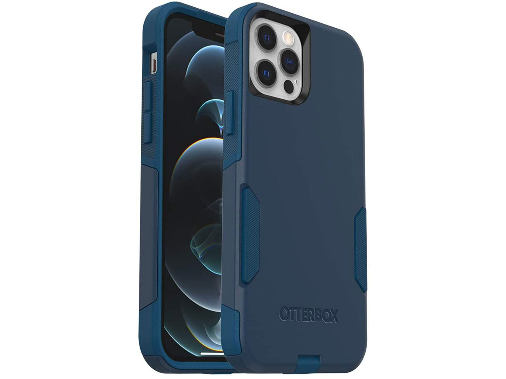 OtterBox Commuter Series Case for iPhone 12 & iPhone 12 Pro - Bespoke Way (Blazer Blue/Stormy Seas Blue)