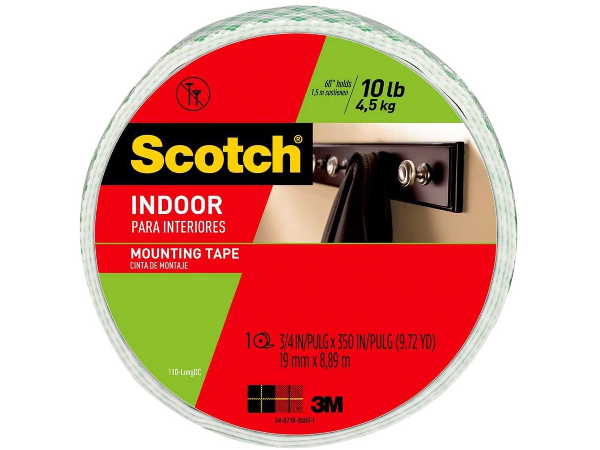 Scotch-Mount Indoor Double-Sided Mounting Tape Mega Roll 110H-Long-DC