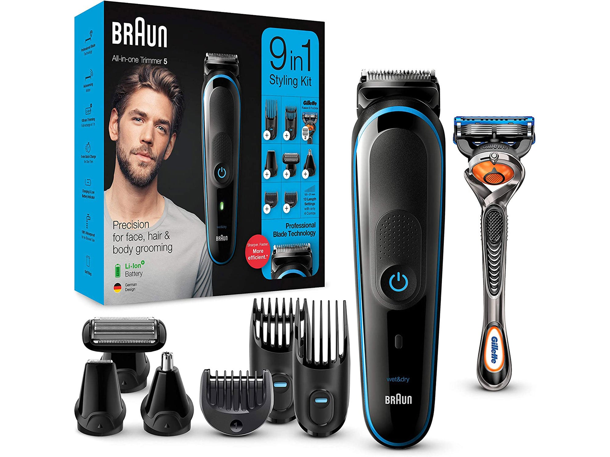 Braun 9-in-1 All-in-one Trimmer 5 MGK5280, Beard Trimmer for Men, Hair