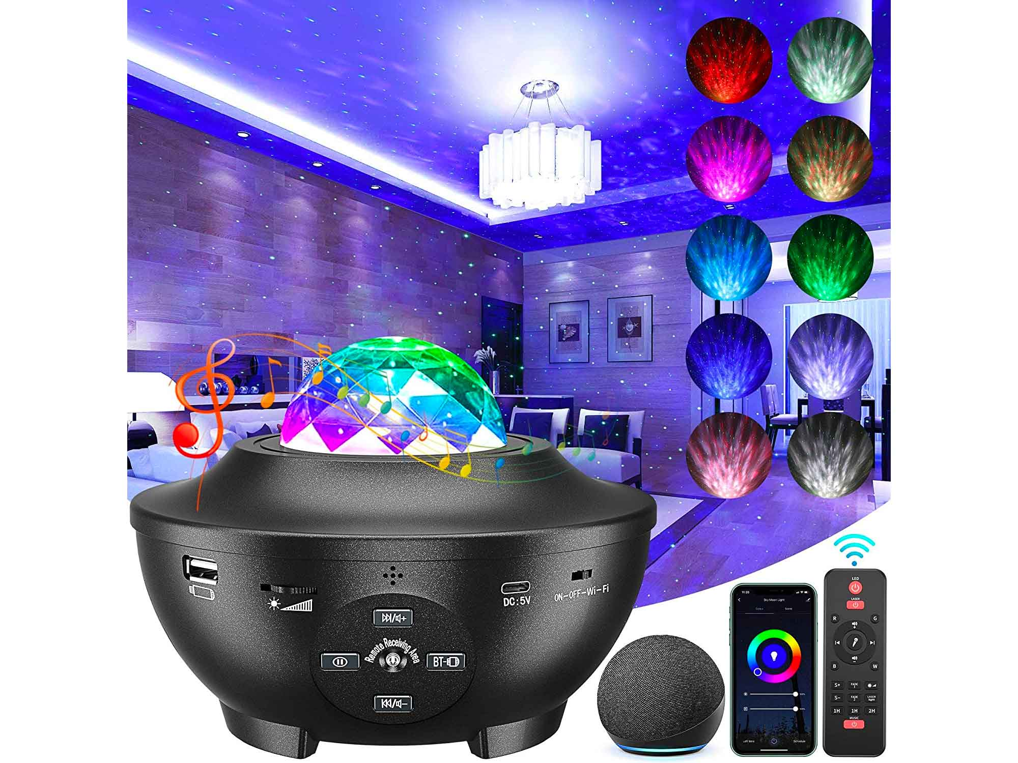 Galaxy Projector, 3 in 1 Smart Star Projector Sky Lite