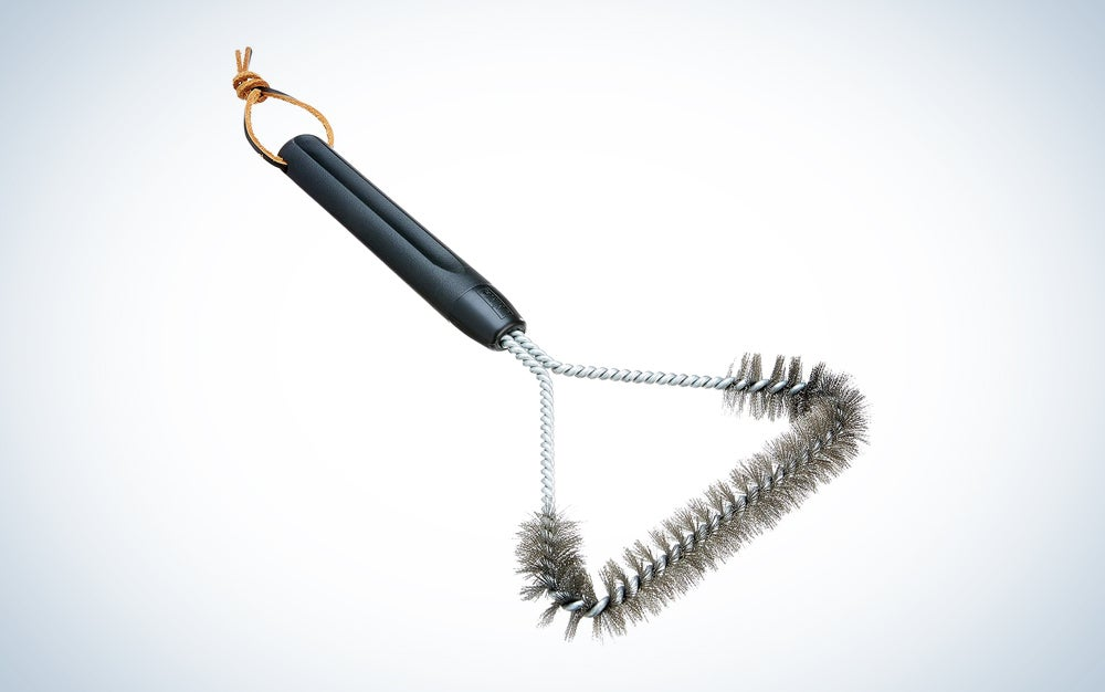 silver grill brush