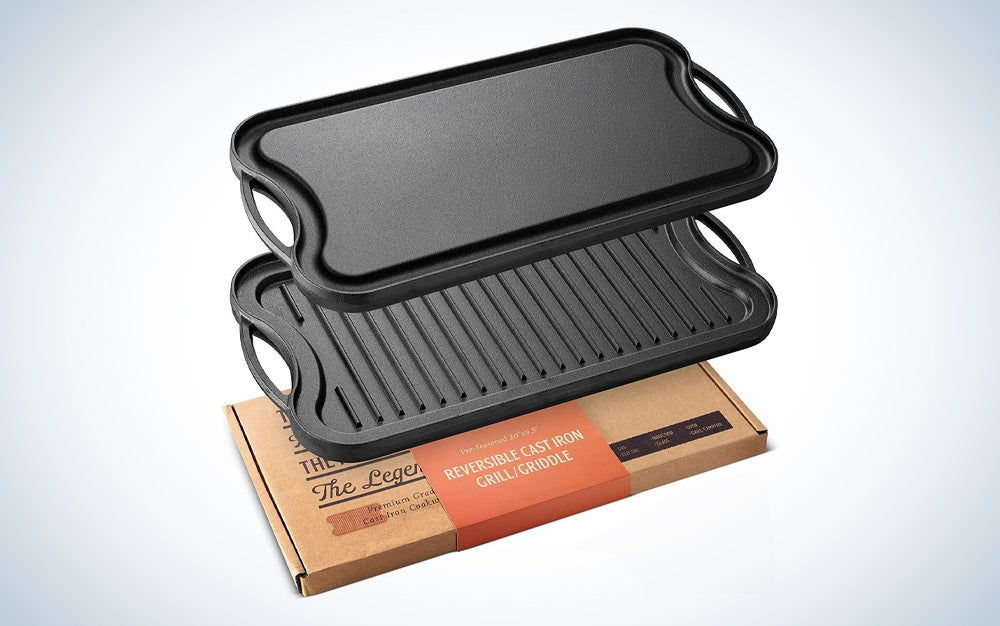 reversible grill griddle and box